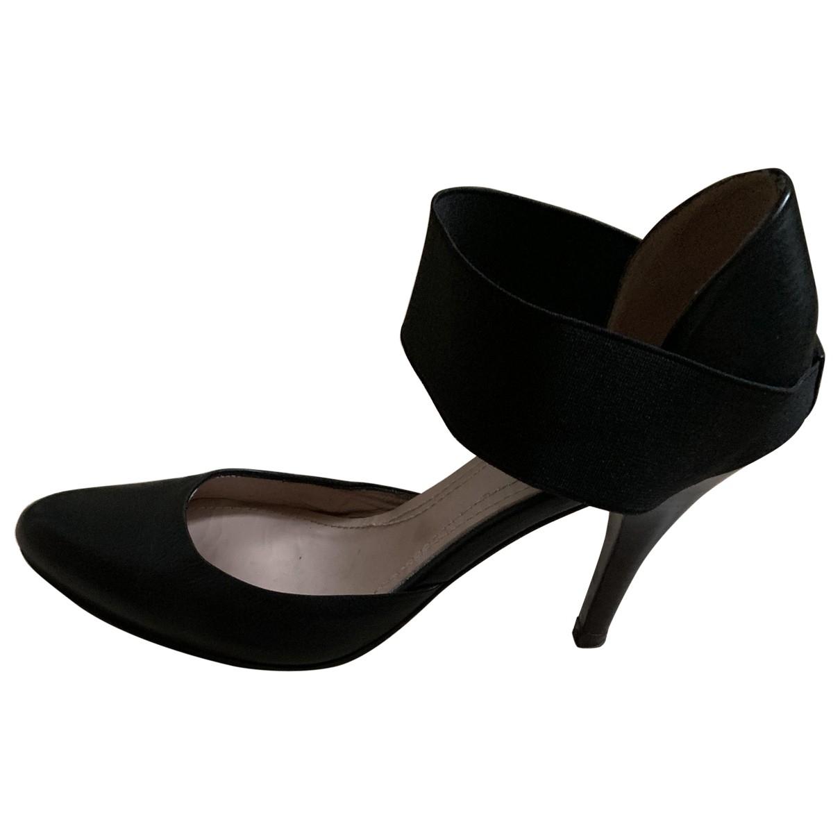 Vanessa Bruno - Escarpins   pour femme en cuir - noir