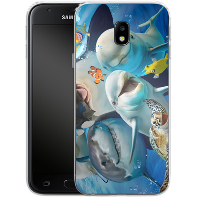 Samsung Galaxy J3 (2017) Silikon Handyhuelle - Ocean Selfie von Howard Robinson