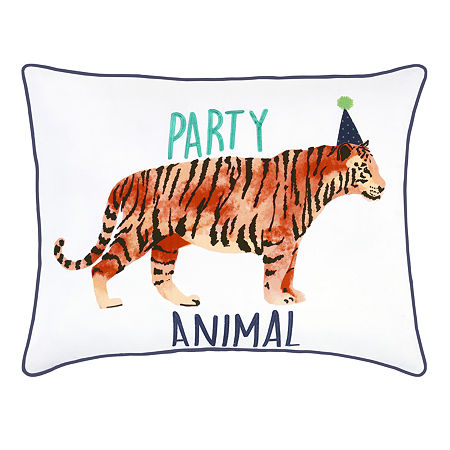 Frank And Lulu Party Animal Pillow Rectangular Throw Pillow, One Size , Multiple Colors