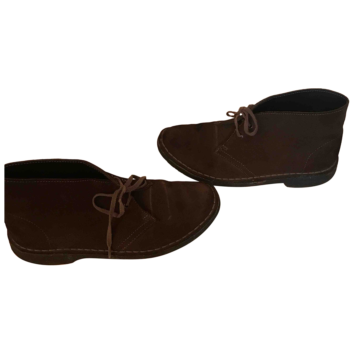 Clarks - Boots   pour femme en suede - marron