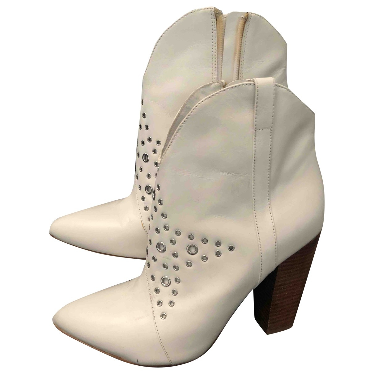 Guess \N White Leather Boots for Women 39 EU