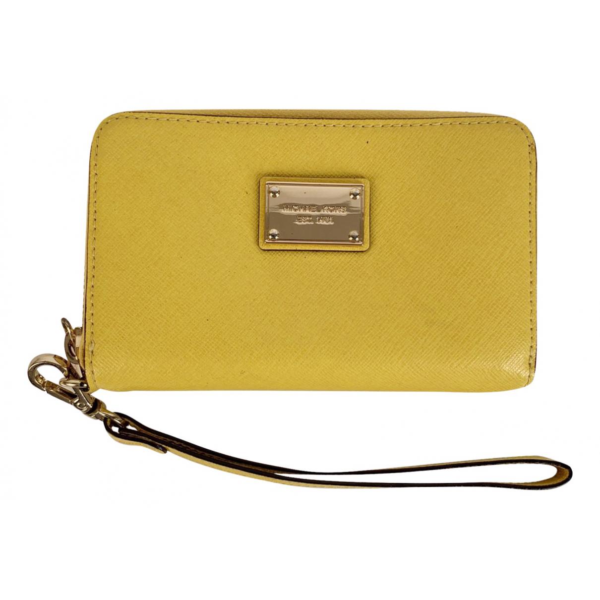 Michael Kors N Yellow Leather wallet for Women N