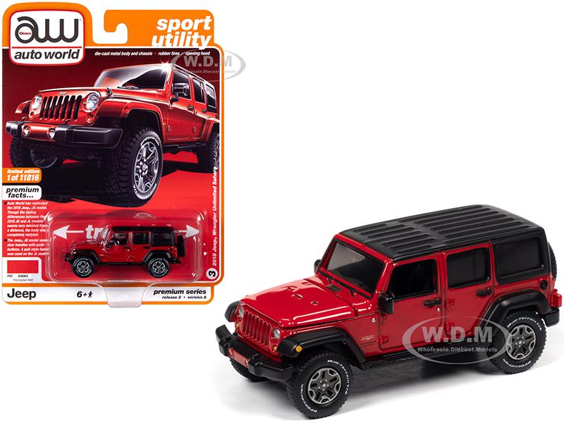 2018 Jeep Wrangler Unlimited Sahara (4-door) Firecracker Red with Black Top