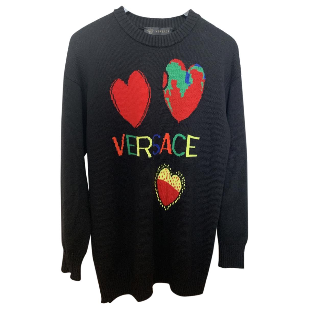 Versace - Pull   pour femme en coton - noir