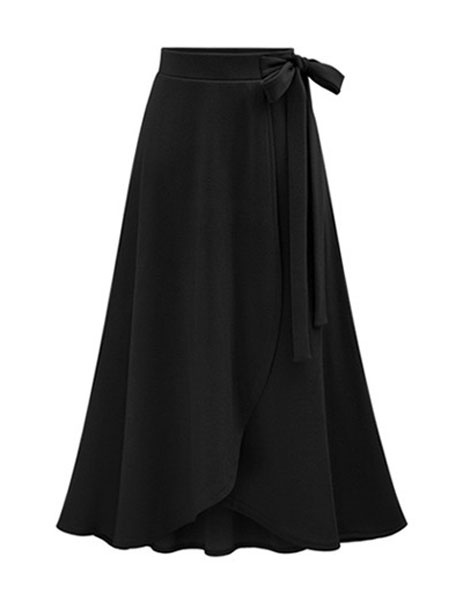 Milanoo Women Summer Skirt Asymmetrical Long Skirt