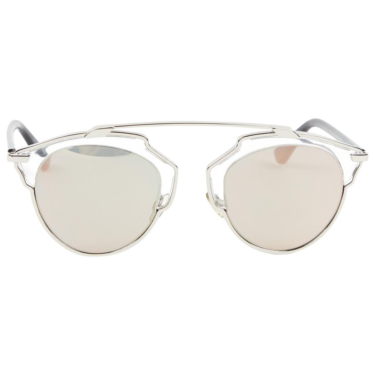 Dior So Real  Grey Metal Sunglasses for Women \N