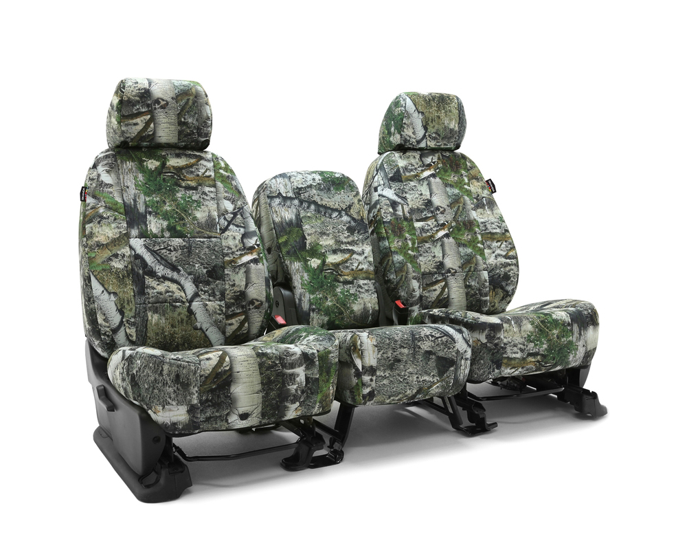 Coverking CSCMO11FD10089 Skanda Custom Seat Covers 1 Row Neosupreme Mossy Oak Mountain Country Solid Front Ford F-150 2018-2021