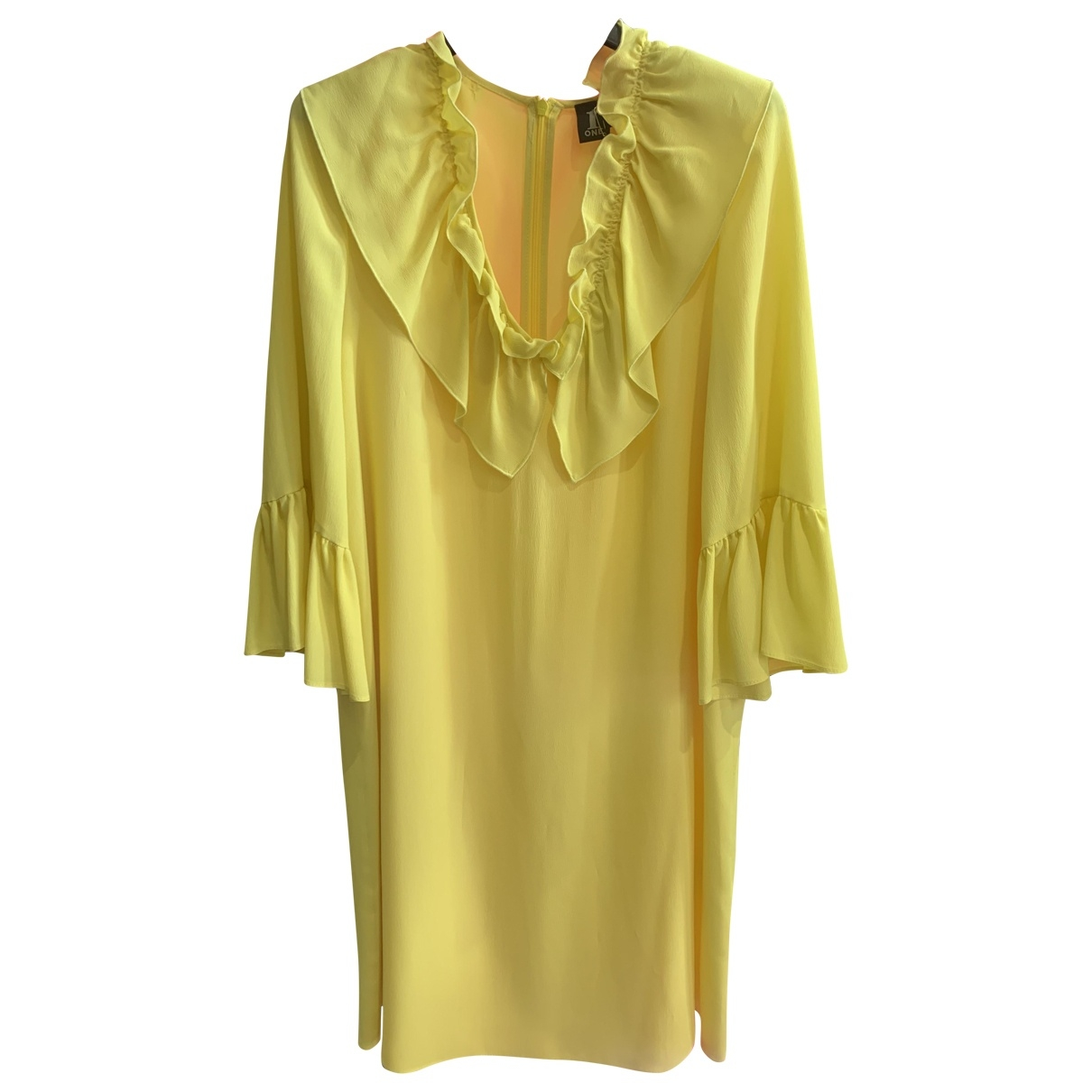Non Signé / Unsigned \N Yellow Silk dress for Women 40 IT
