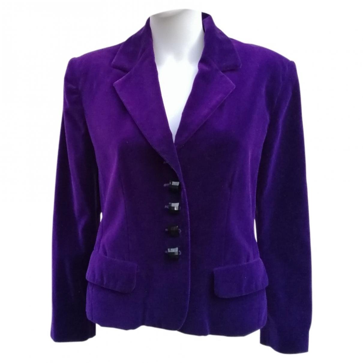 Celine \N Purple Velvet jacket for Women 42 FR