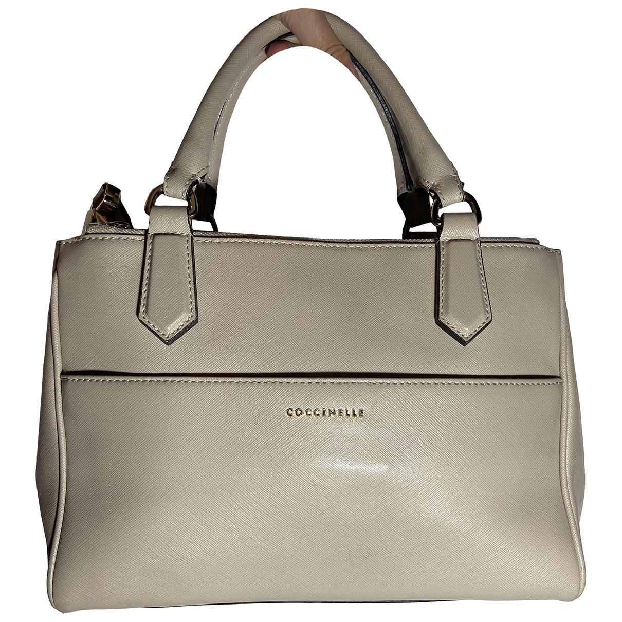 Coccinelle N Ecru Leather handbag for Women N
