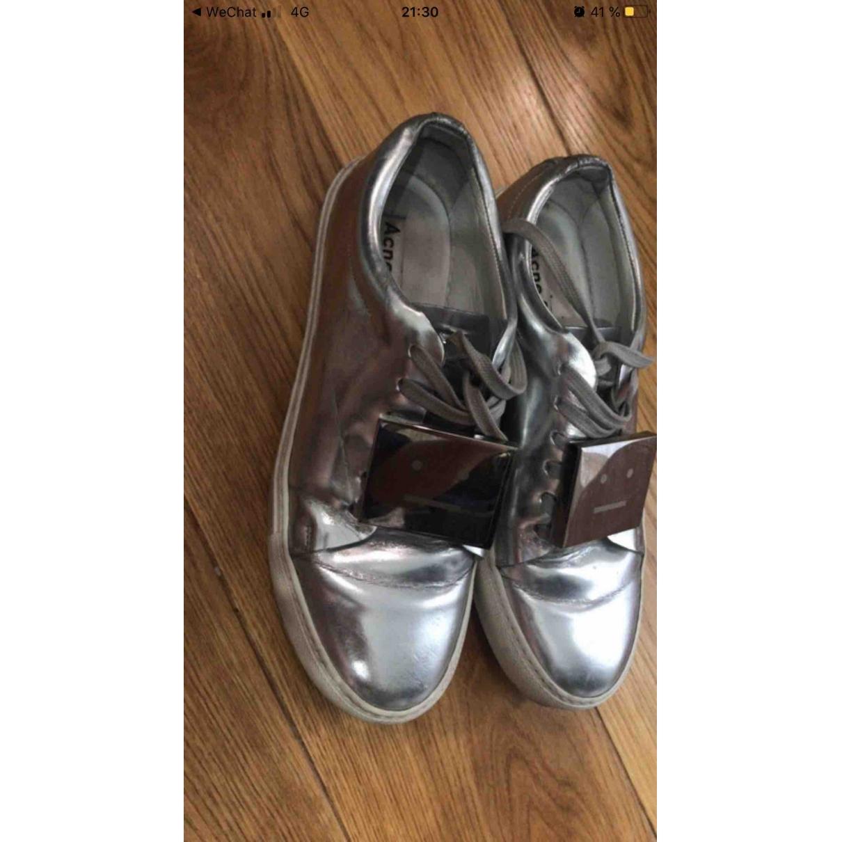 Acne Studios \N Sneakers in  Silber Lackleder