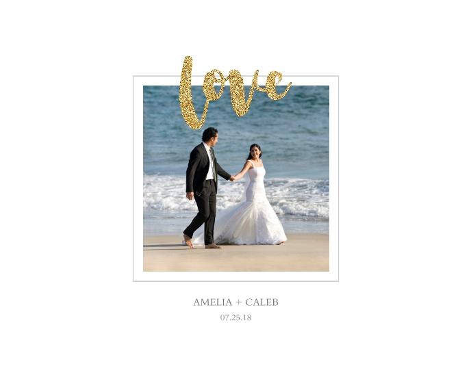 Love Framed Canvas Print, Chocolate, 11x14, Home Décor -Love Glitter
