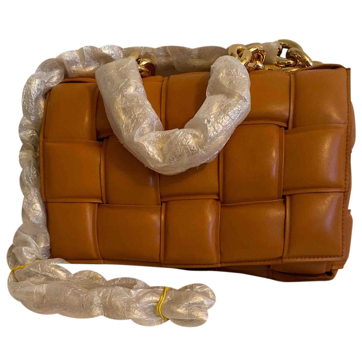 Bottega Veneta Cassette Orange Leather handbag for Women N