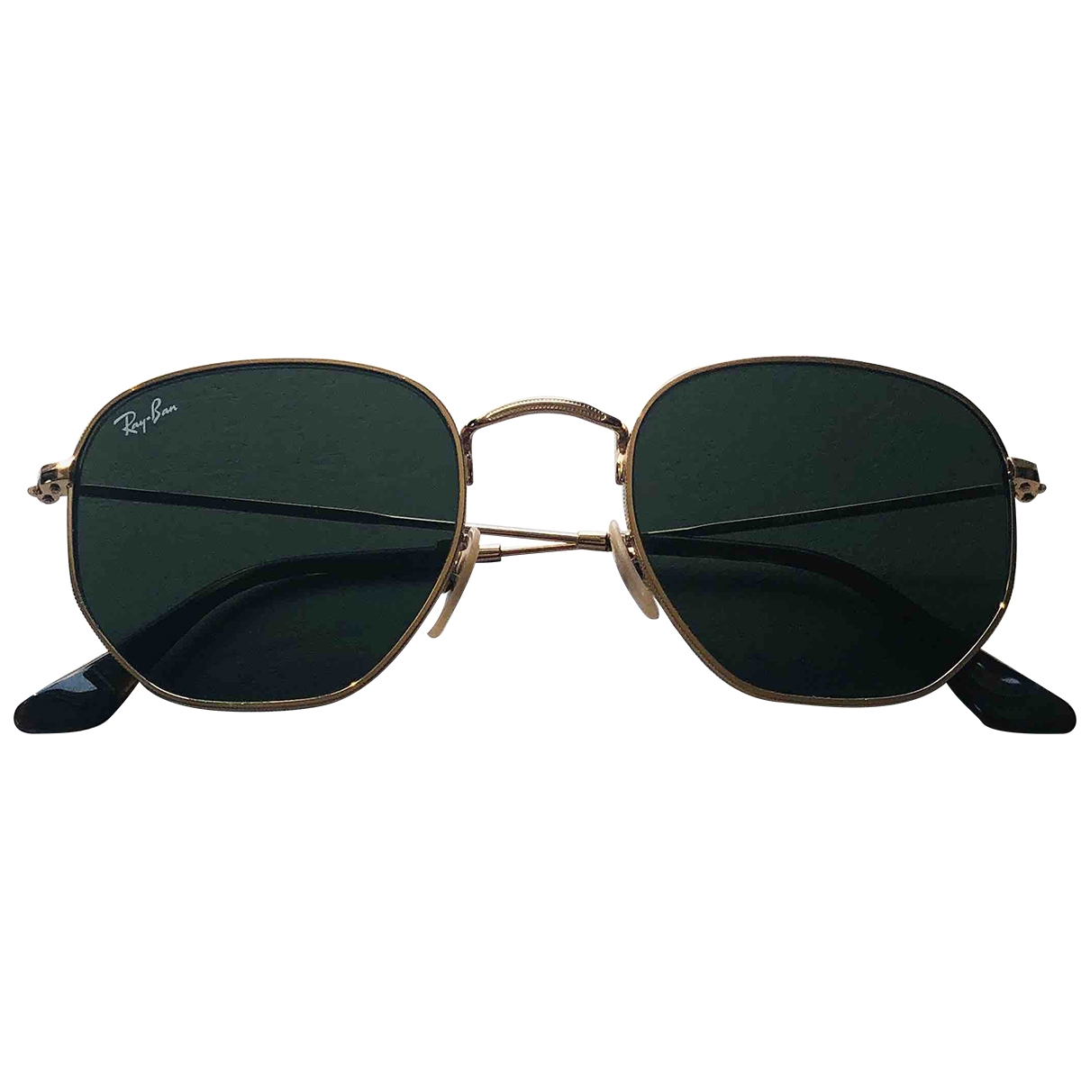 Ray-ban Hexagonal Gold Metal Sunglasses for Women \N