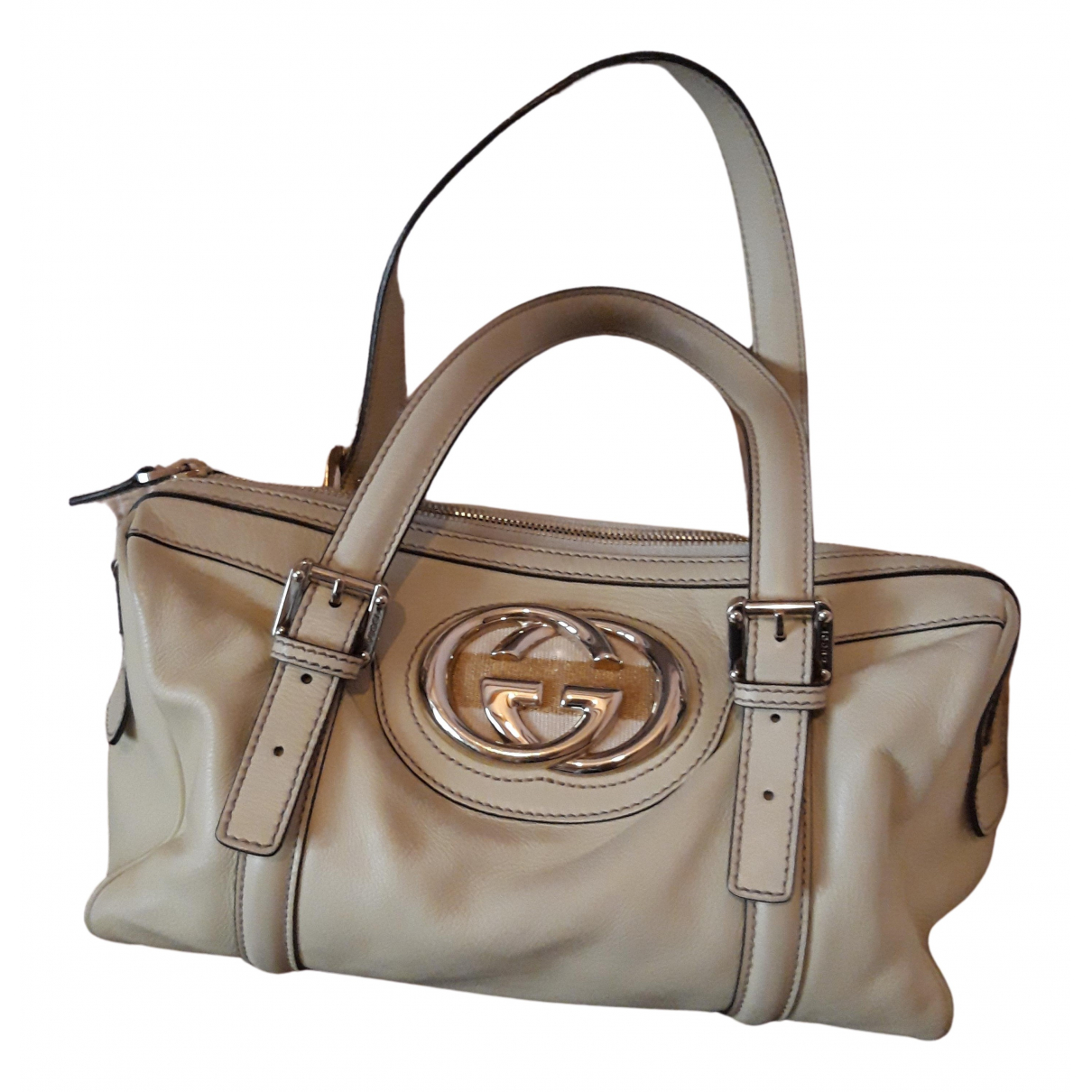 Gucci N Beige Leather handbag for Women N