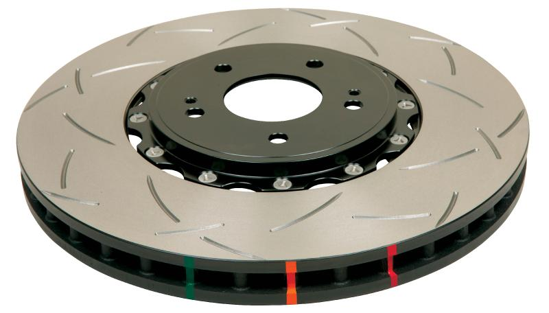 Disc Brakes Australia T3 5000 Series Uni-Directional Slotted Rotor, Black Hat Front