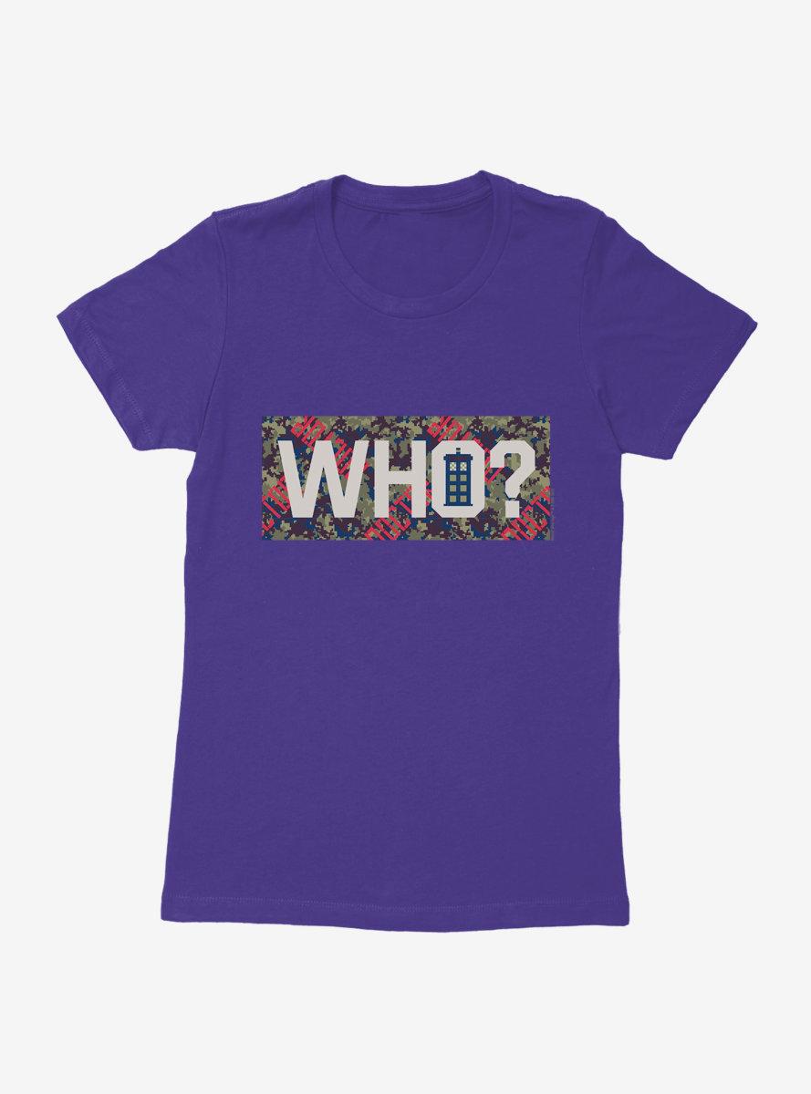 Doctor Who TARDIS Who? Womens T-Shirt