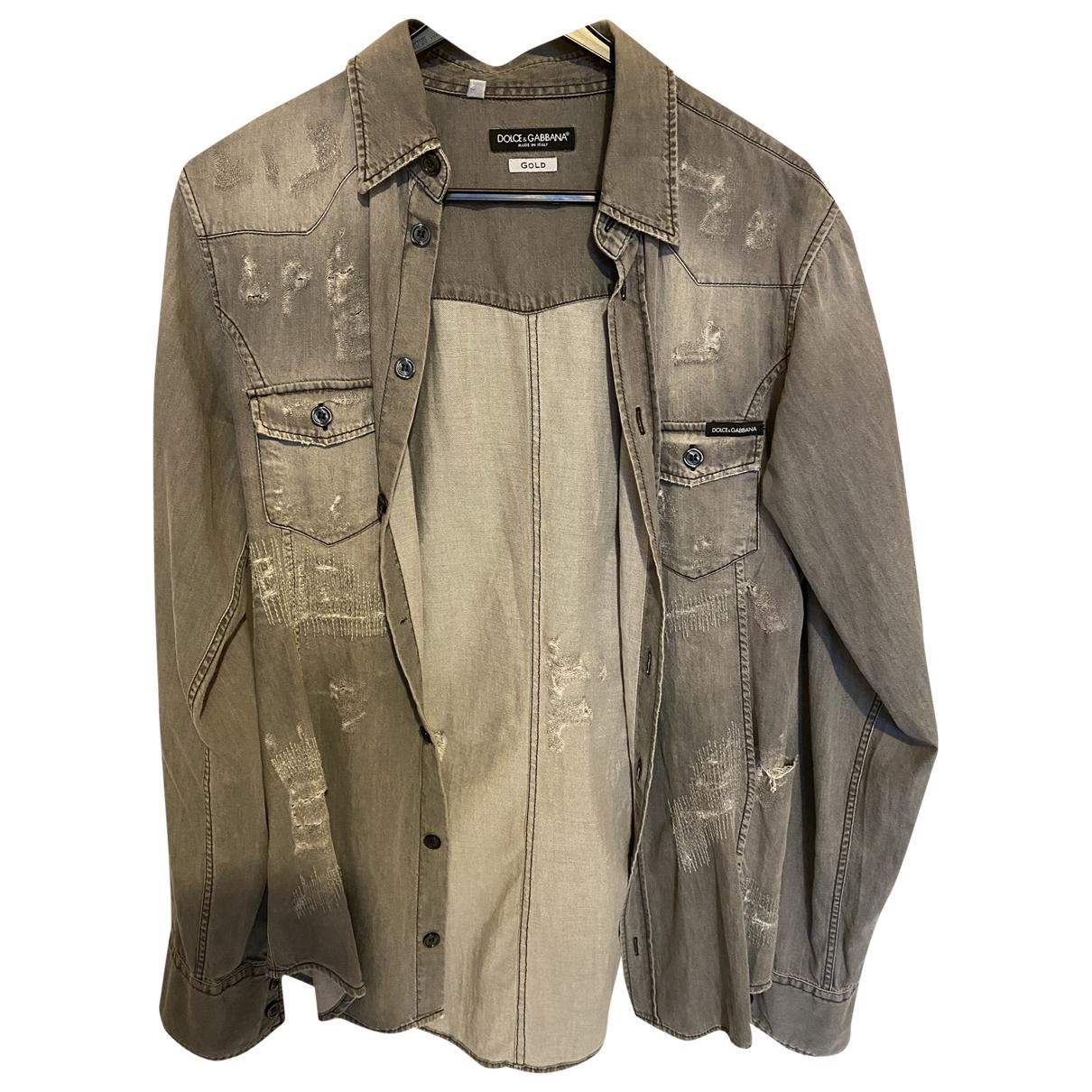 Dolce & Gabbana \N Hemden in  Grau Baumwolle