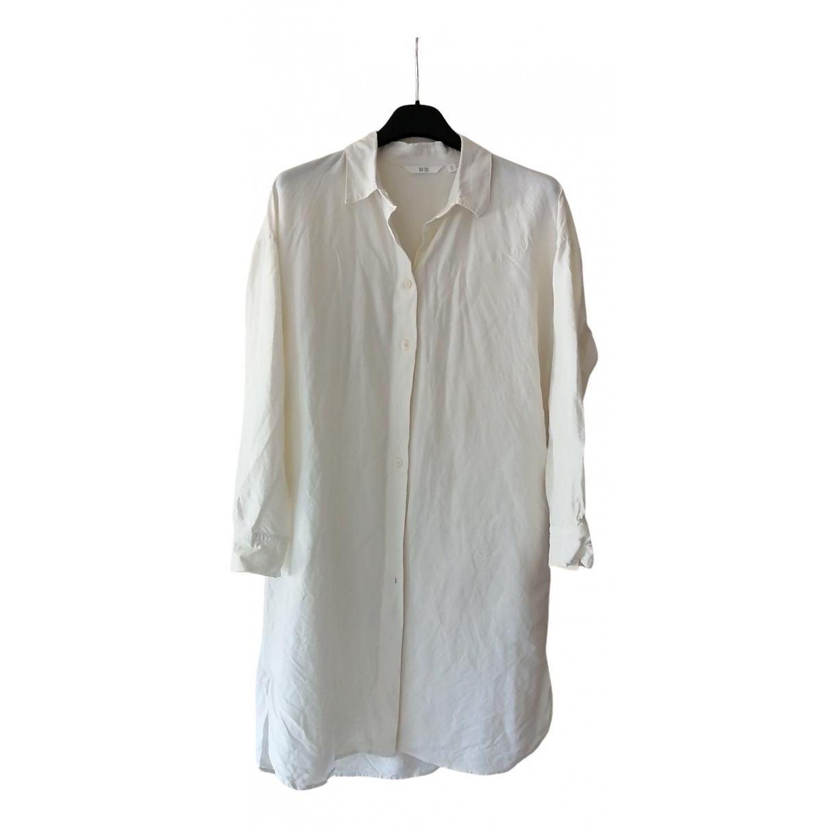 Uniqlo \N White Linen dress for Women 34 FR