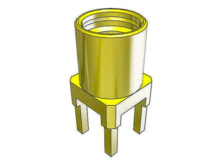 Samtec 50Ω Straight Surface Mount, Through Hole MMCX Connector, jack, Coaxial