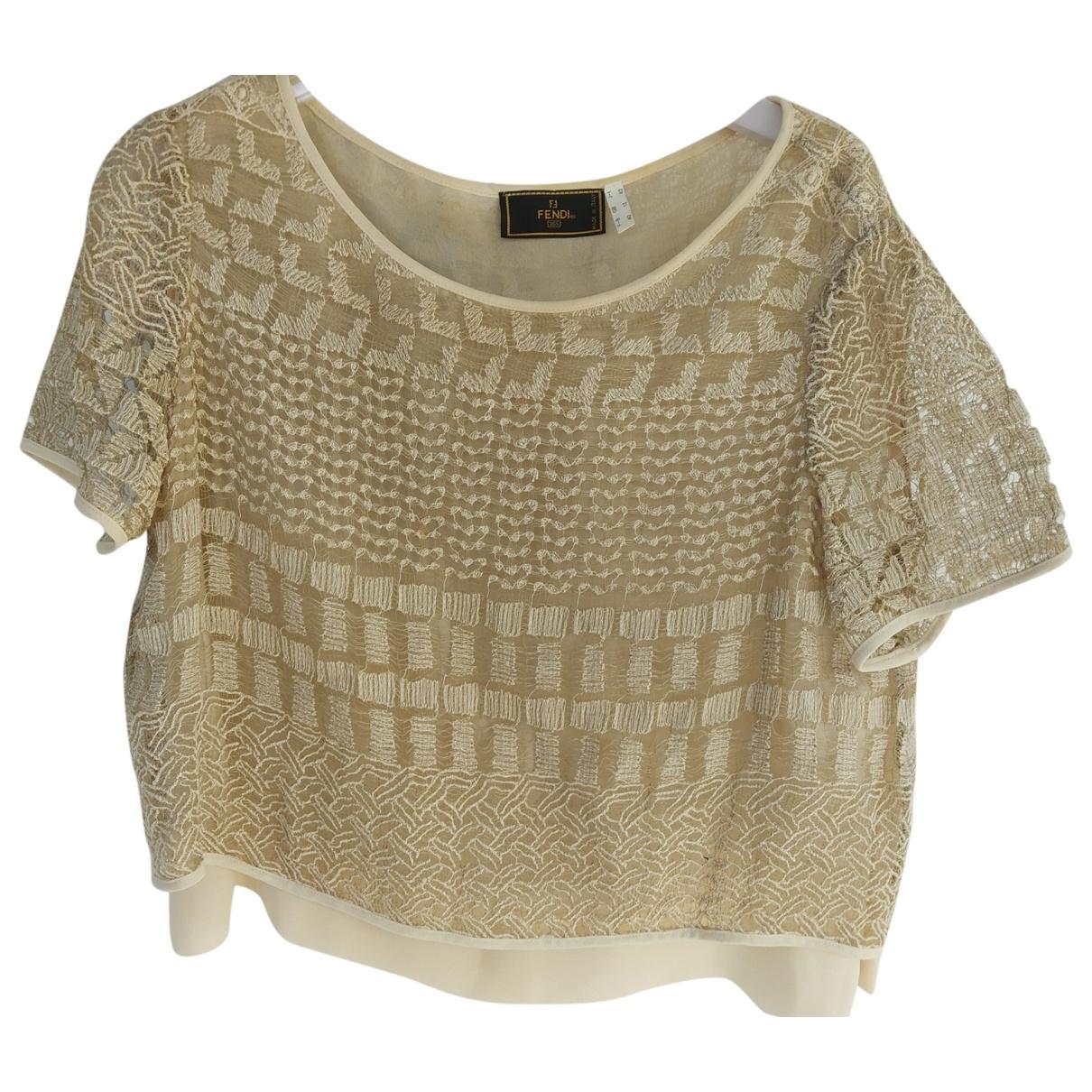 Fendi \N Beige Linen  top for Women 42 IT