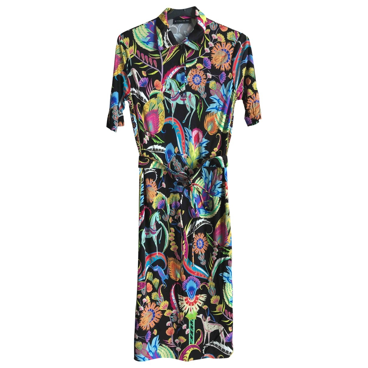 Etro \N Black Silk dress for Women 40 IT