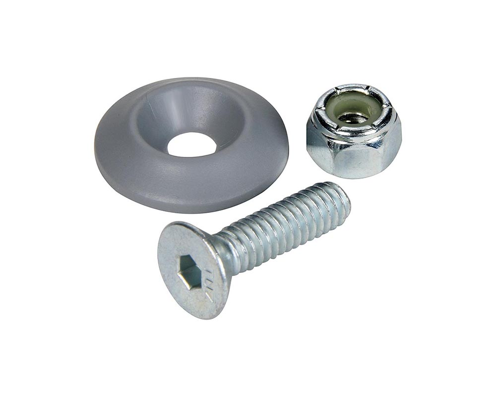 Allstar Performance ALL18685 Countersunk Bolt Kit Silver 10pk ALL18685