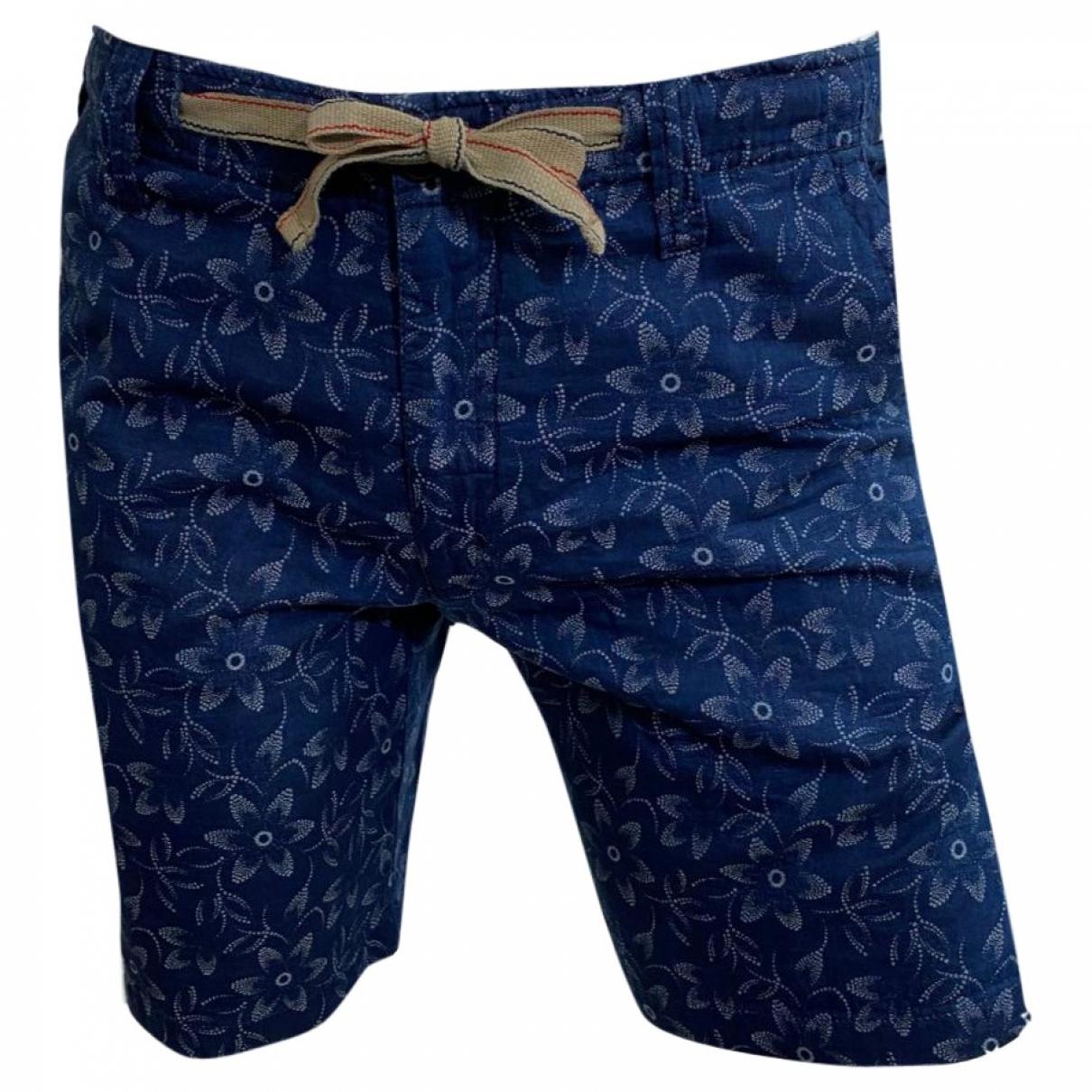Hartford \N Blue Cotton Shorts for Men 46 IT