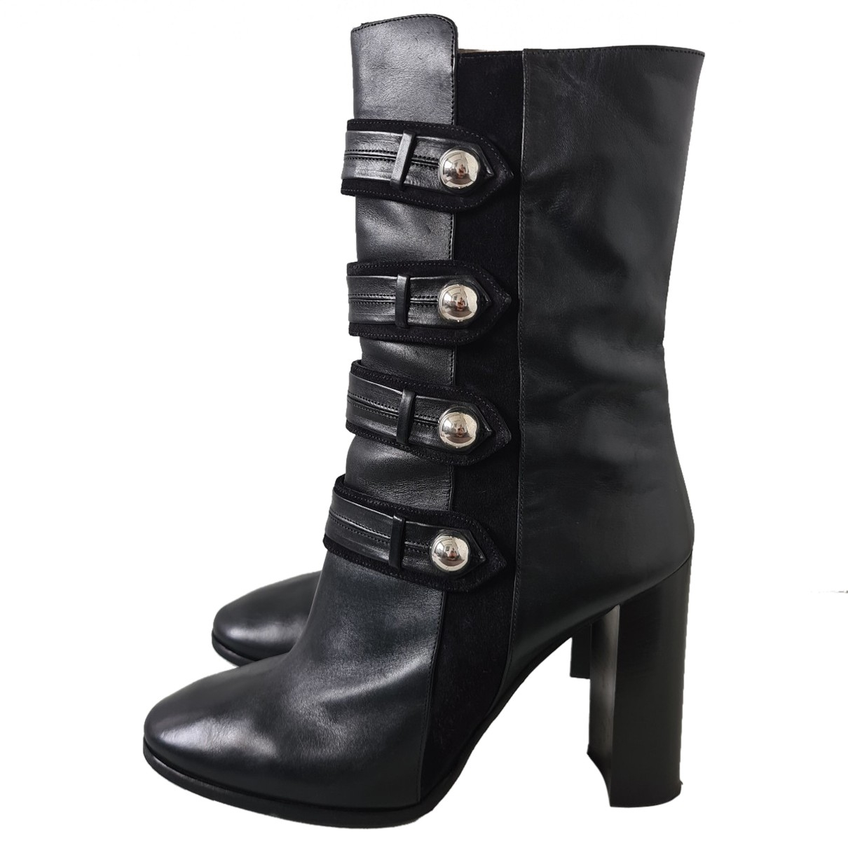Isabel Marant N Black Leather Boots for Women 41 EU