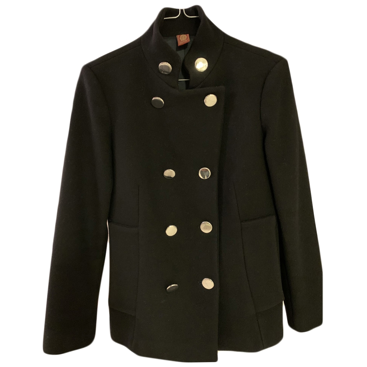 Dondup \N Black Wool coat for Women 42 IT