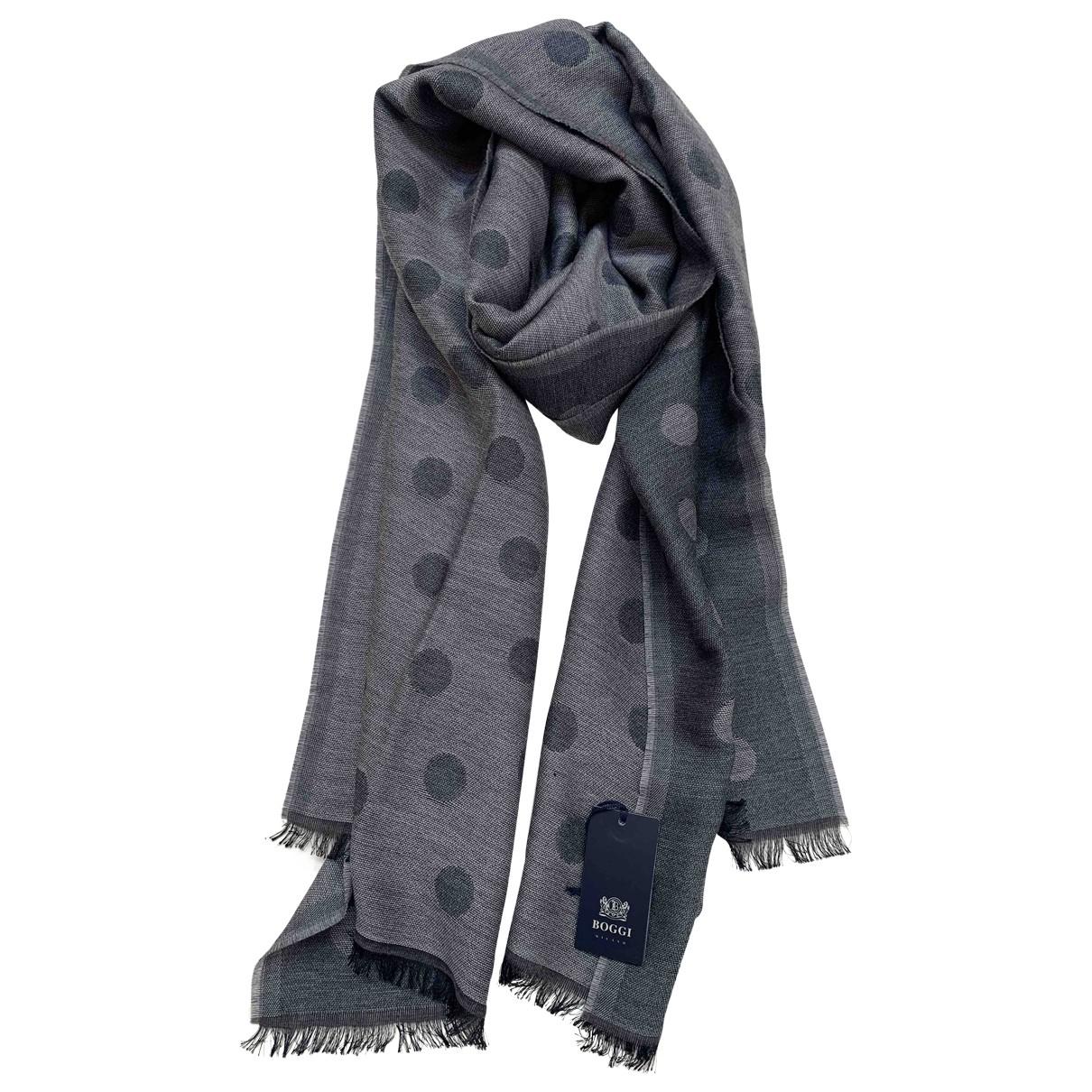 Boggi N Grey Wool scarf & pocket squares for Men N