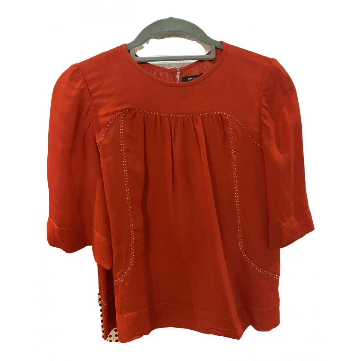Isabel Marant \N Red Silk  top for Women 36 FR