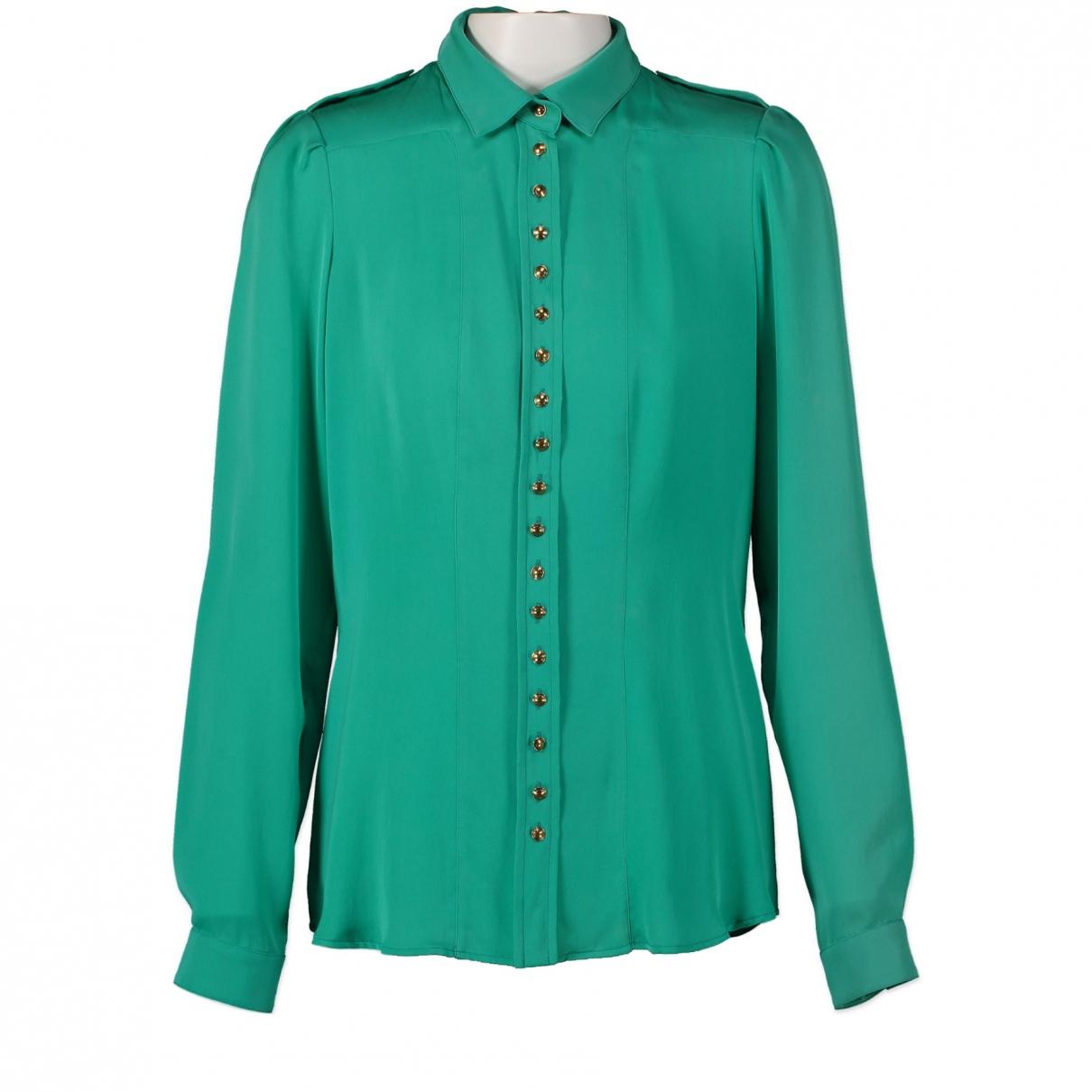 Gucci \N Green Silk  top for Women 40 IT