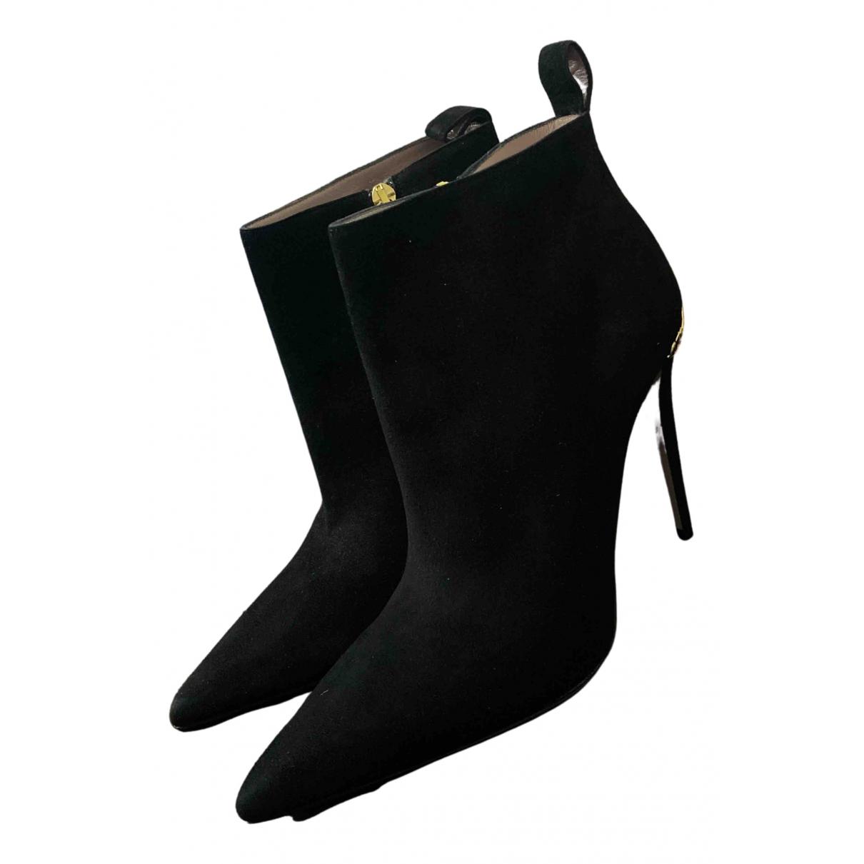 Gucci N Black Velvet Ankle boots for Women 41 EU