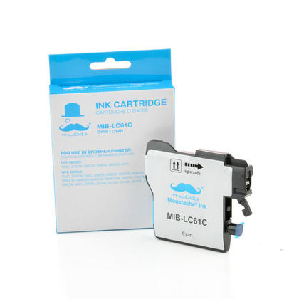 Compatible Brother MFC-250C cyan cartouche encre de Moustache