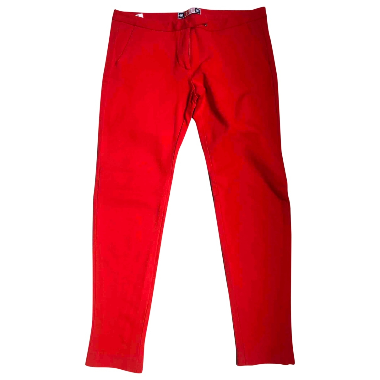 Msgm \N Red Trousers for Women 42 IT
