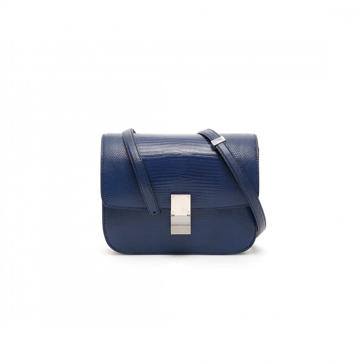 Celine Classic Navy Lizard handbag for Women \N