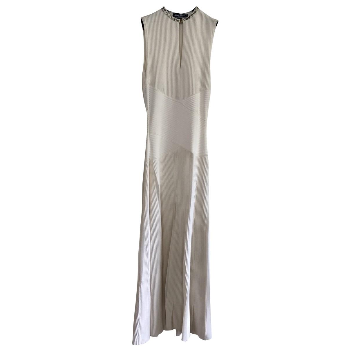 Salvatore Ferragamo \N Beige Silk dress for Women S International
