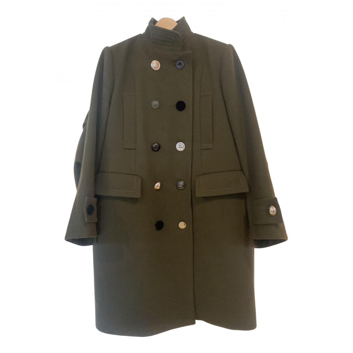 Sacai - Manteau   pour femme en laine - vert