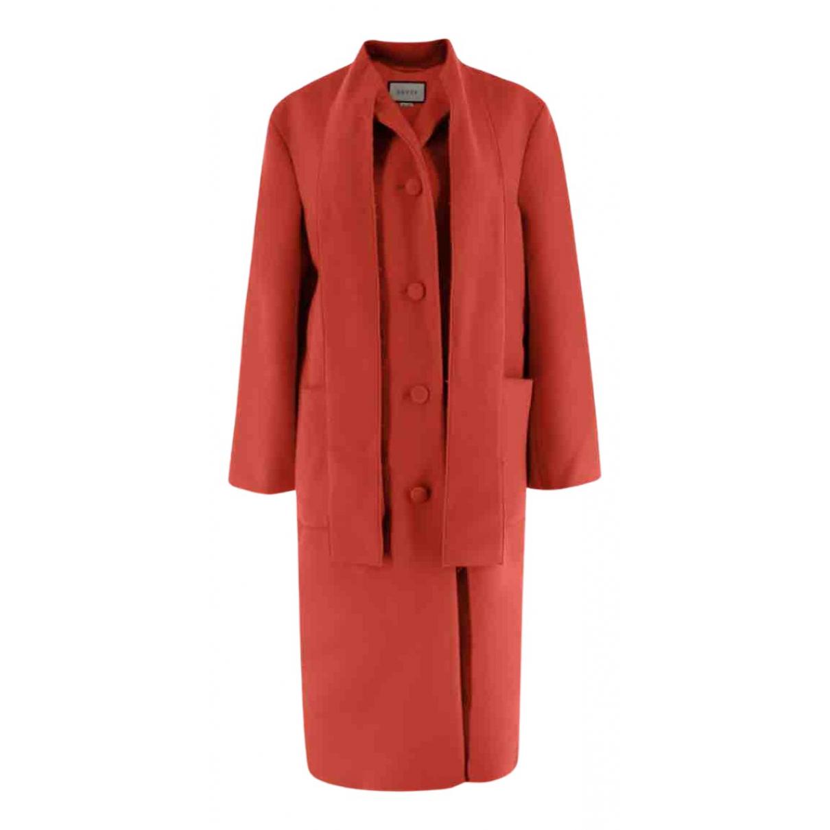 Gucci - Manteau   pour femme en laine - rouge