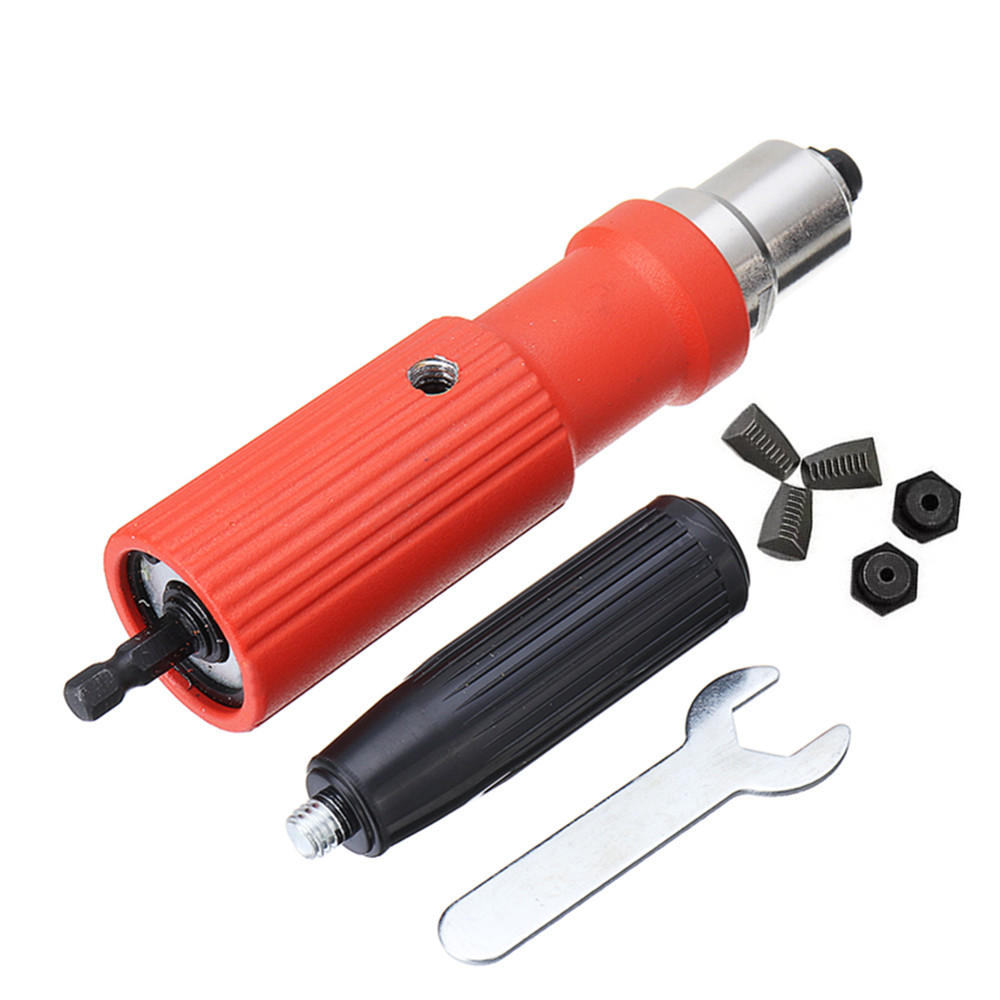 Drillpro Electric Riveter Nut Riveting Tool Metal Cordless Riveting Adapter For Electric Drill