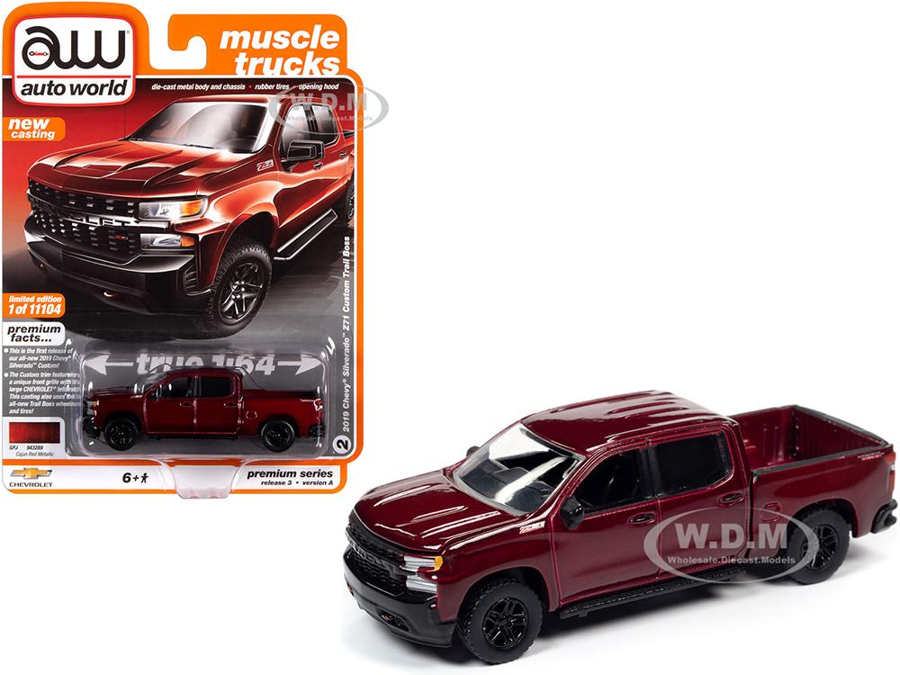 2019 Chevrolet Silverado Z71 Custom Trail Boss Pickup Truck Cajun Red Metallic