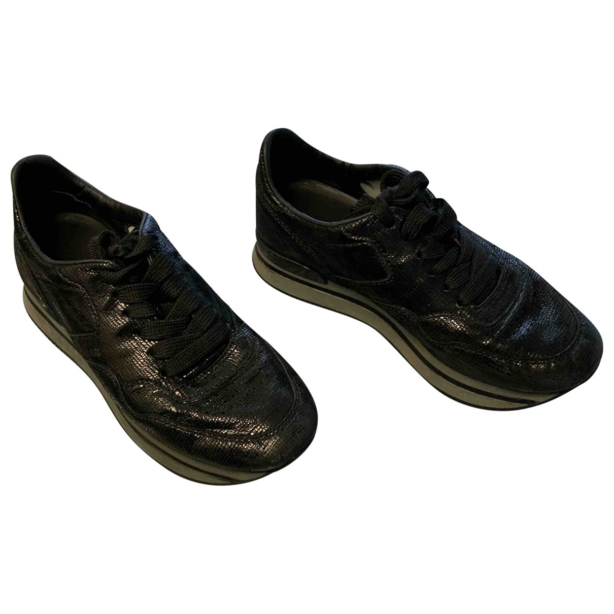 Hogan - A lacets   pour enfant en cuir - noir