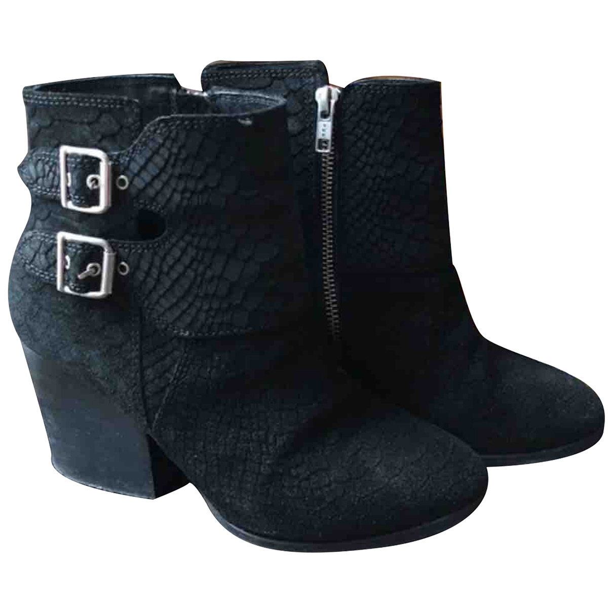 The Kooples \N Black Suede Ankle boots for Women 37 EU