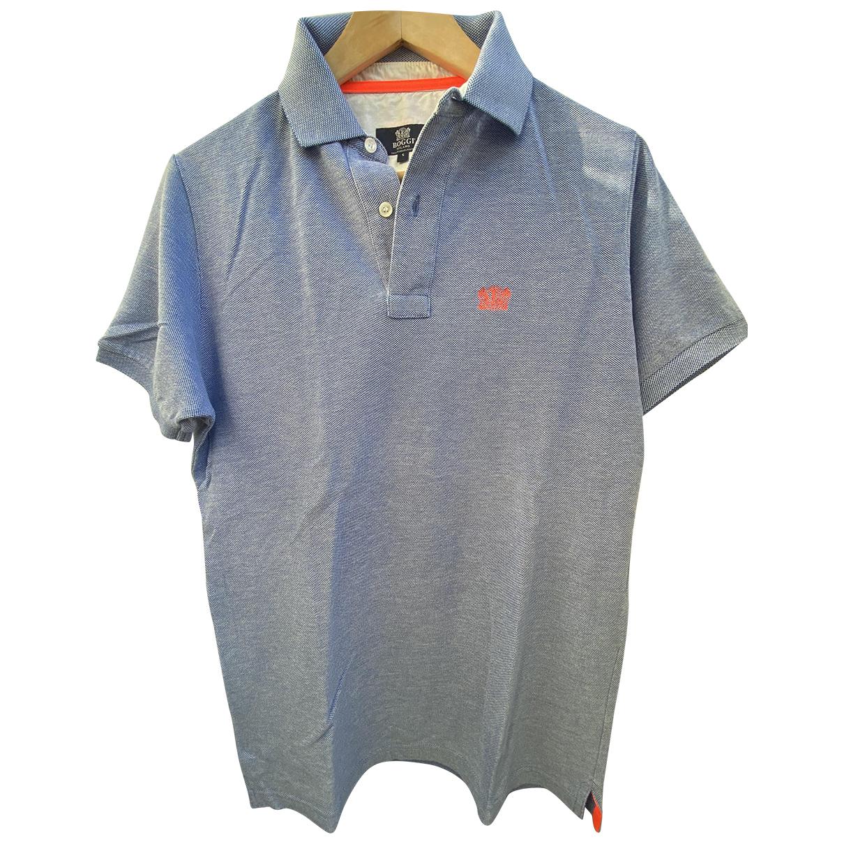 Boggi - Polos   pour homme en coton - bleu