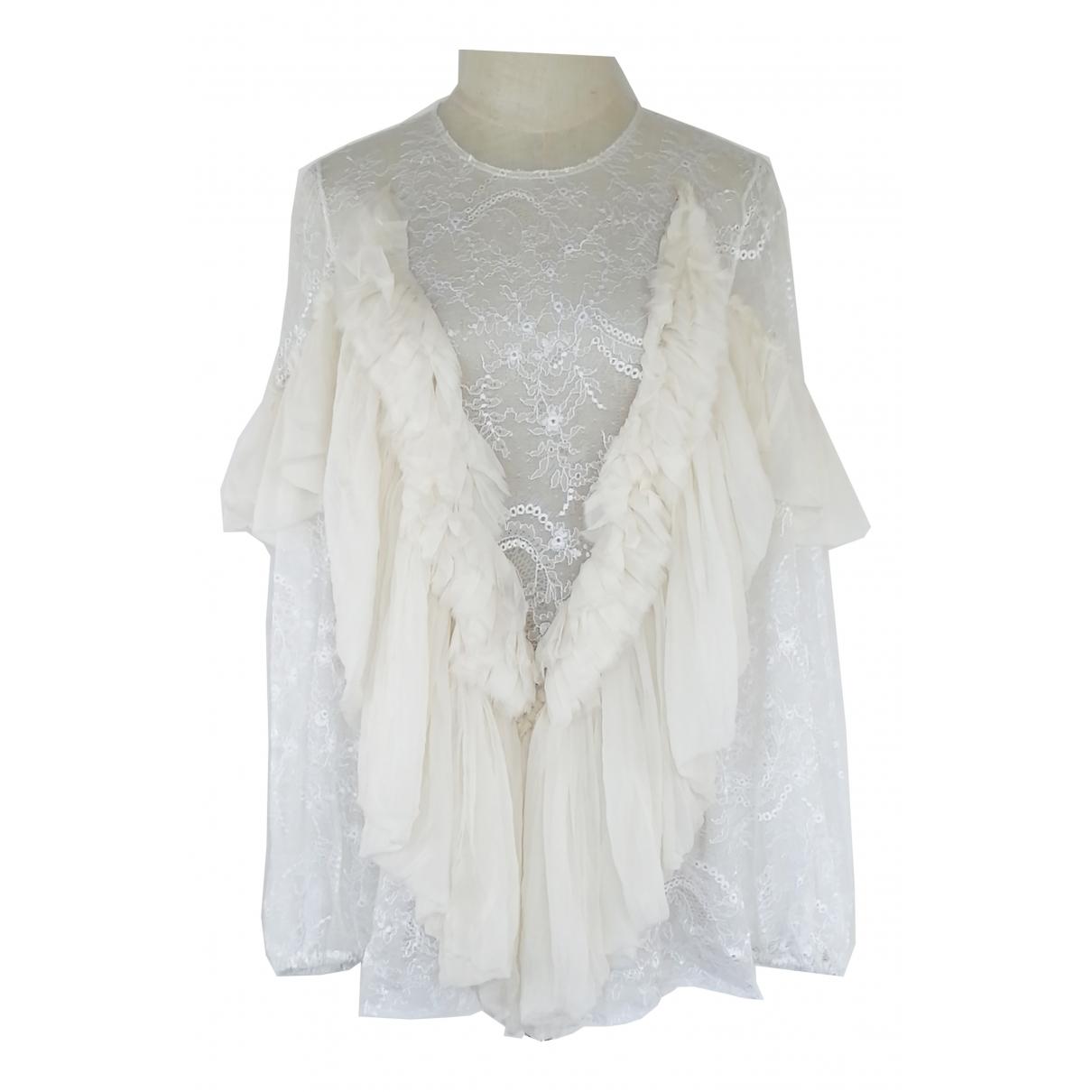 Givenchy - Top   pour femme en dentelle - blanc