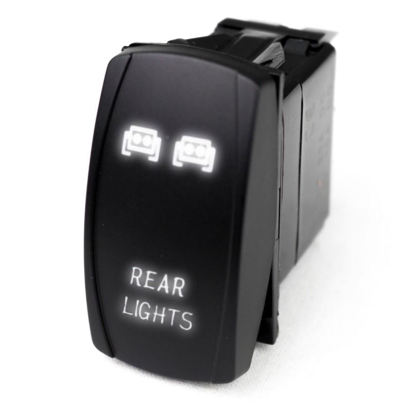 Race Sport Lighting RSLJ60W LED Rocker Switch with White LED Radiance (Rear Lights)