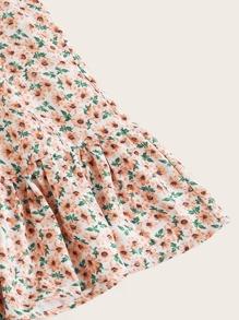 Ditsy Floral Self-Tie Cami Mini Dress
