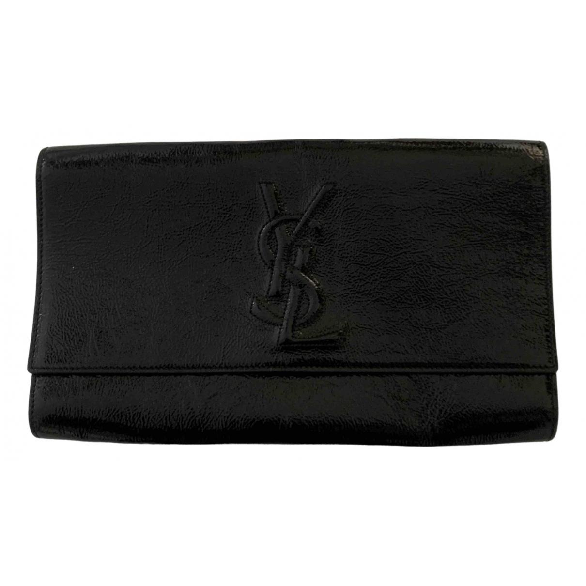 Yves Saint Laurent Belle de Jour Black Patent leather Clutch bag for Women N