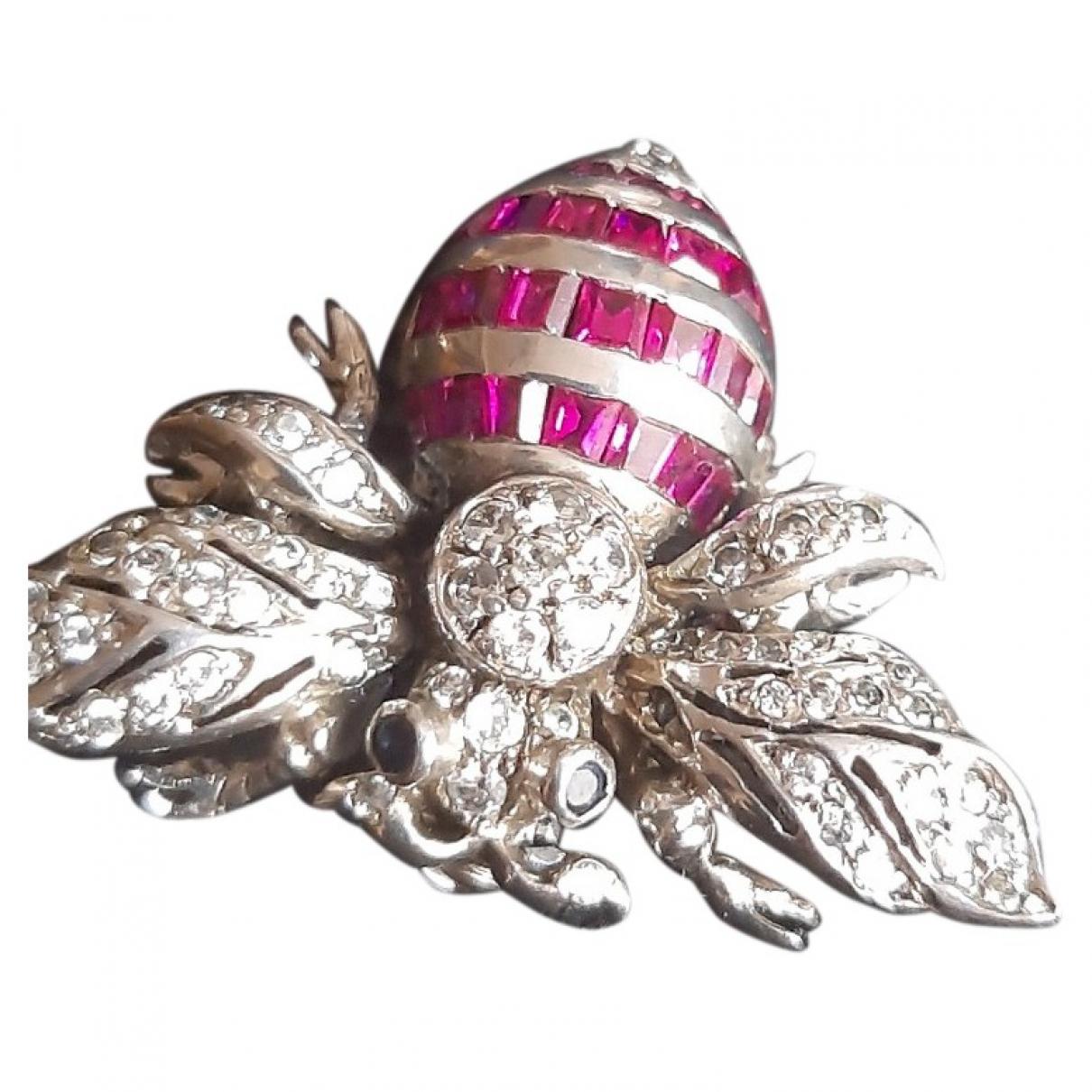 Swarovski \N Brosche in  Silber Metall